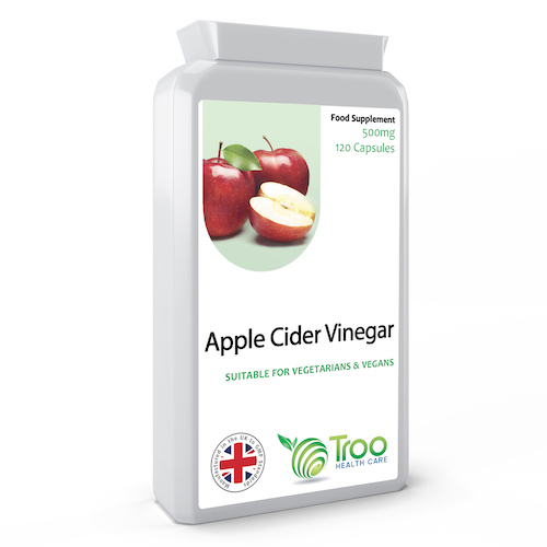 Apple Cider Vinegar 500mg 120 Capsules - SyntHealthcare.com