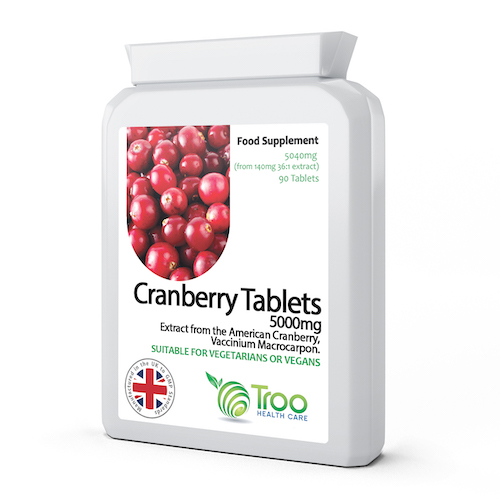Cranberry 5000mg 90 Tablets - SyntHealthcare.com