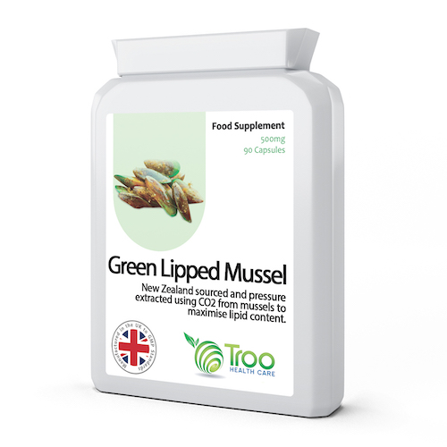 Green Lipped Mussel 500mg 90 Capsules - SyntHealthcare.com