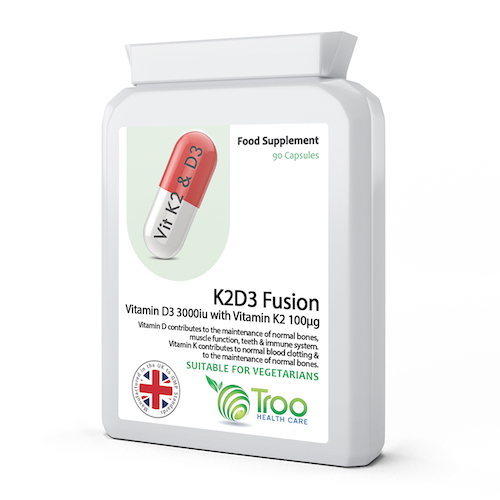 K2D3 Fusion Vitamin D3 3000 IU and Vitamin K2 100ug MK7 90 Capsules - SyntHealthcare.com