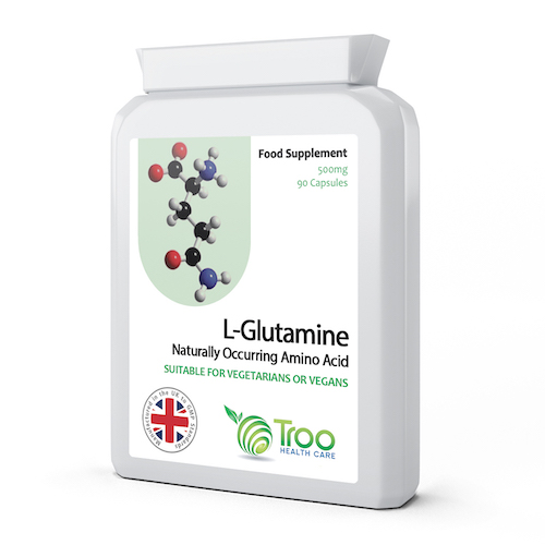L-Glutamine 500mg 90 Capsules - SyntHealthcare.com