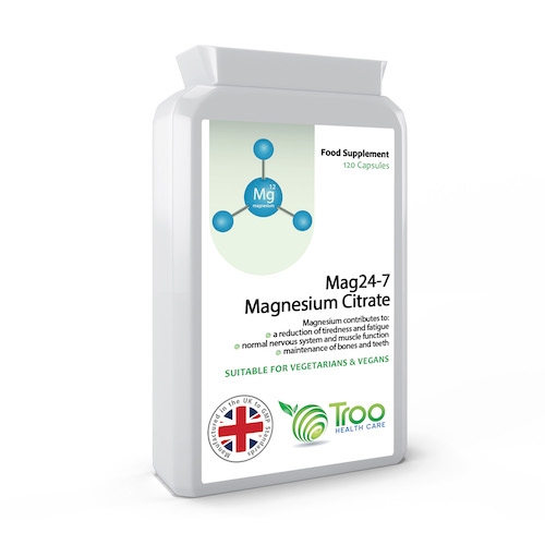 Magnesium Citrate 500mg 120 Capsules - SyntHealthcare.com