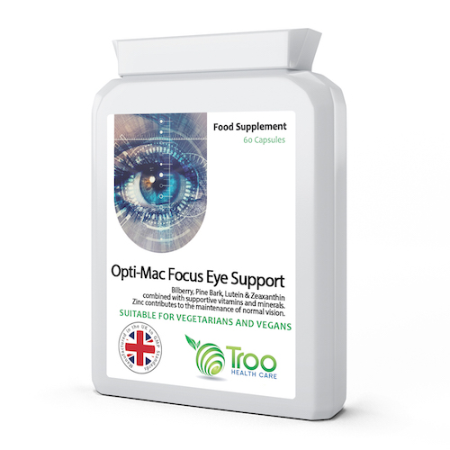 Opti-Mac Focus Eye Support 60 Capsules - SyntHealthcare.com