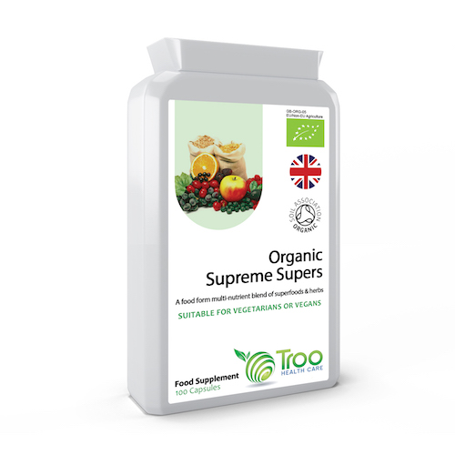 Troo-Vit Organic Supreme SuperFood Multi Vitamin 100 Capsules - SyntHealthcare.com