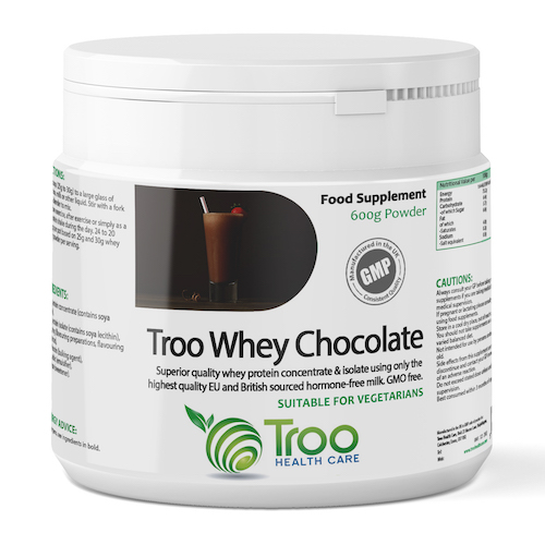 Troo Whey Protein Powder 600g - Chocolate - SyntHealthcare.com