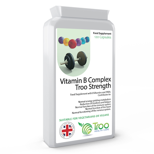 Vitamin B Complex Troo Strength 120 Capsules - SyntHealthcare.com