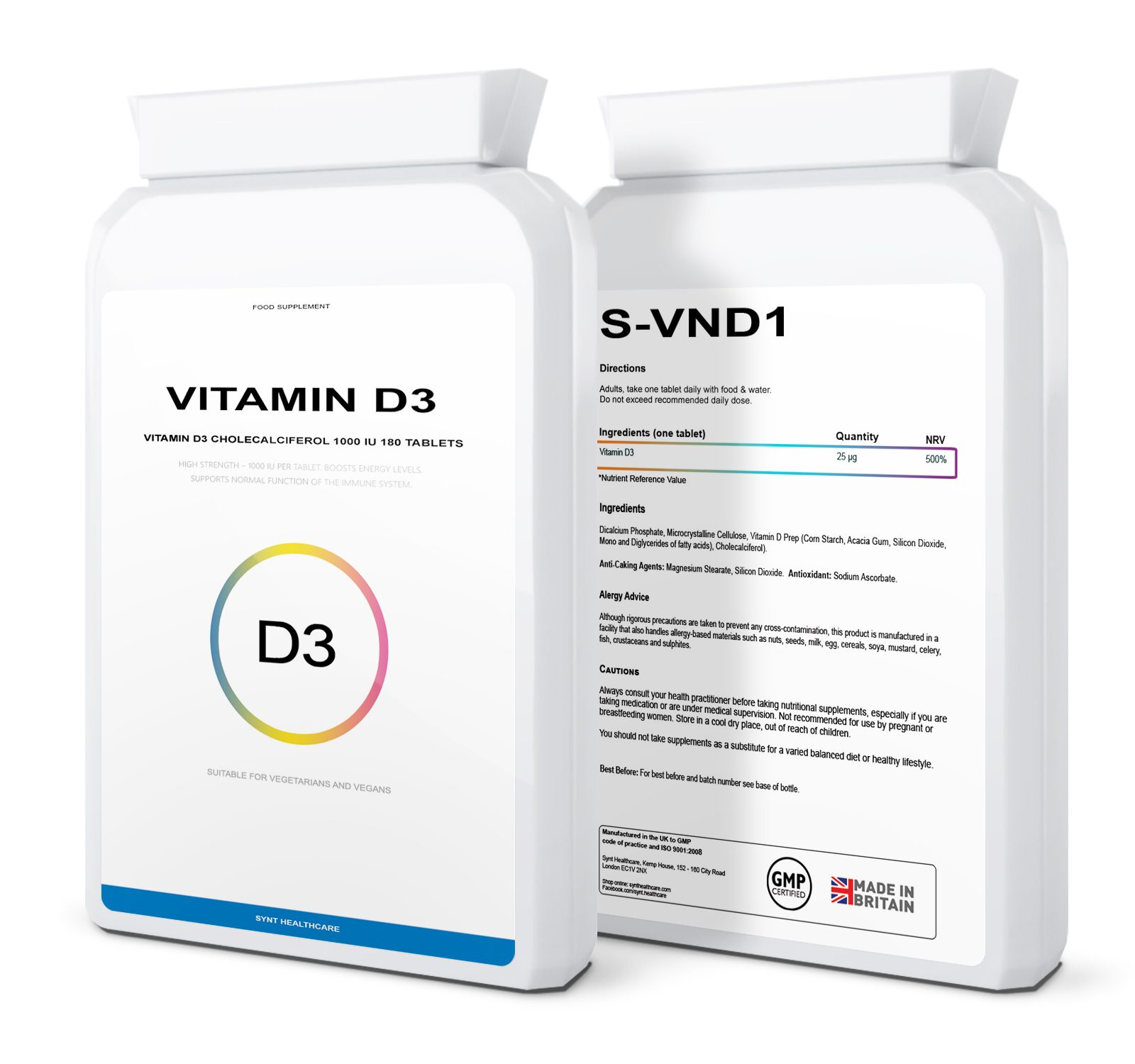 Vitamin D3 Cholecalciferol 180 tablets